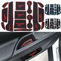 Antideslizante para mitsubishi outlander 13-15 accesorios con palabras en etiquetas engomadas del coche taza ranura puerta estera ranura puerta pad car-styling