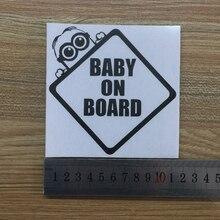 Baby On Board Minion Sticker Decal Vinyl Car Window Windscreen Wall Home Bedroom Children Refrigerator Bumper XMAS Decor Gift