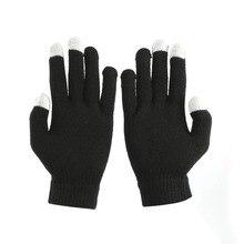 5 шт. зимние мужские и женские емкостные перчатки с сенсорным экраном ручные теплые короткие перчатки плотные теплые перчатки для iPhone для iPad3