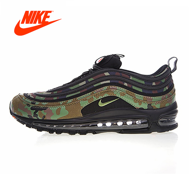 299ffe4ee99 Original Nike Air Max 97 Premium 97 Country Camo Japan Men s Running Shoes  Sliding Anti-slip Authentic Breathable Sneaker