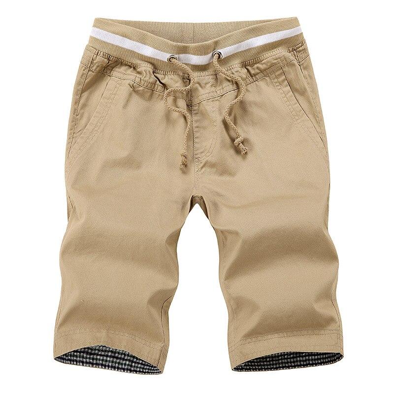Envmenst 2017 Men's High Quality Casual Shorts Men Straight Drawstring beach short Male Cotton Knee Length short  Plus Size 5XL
