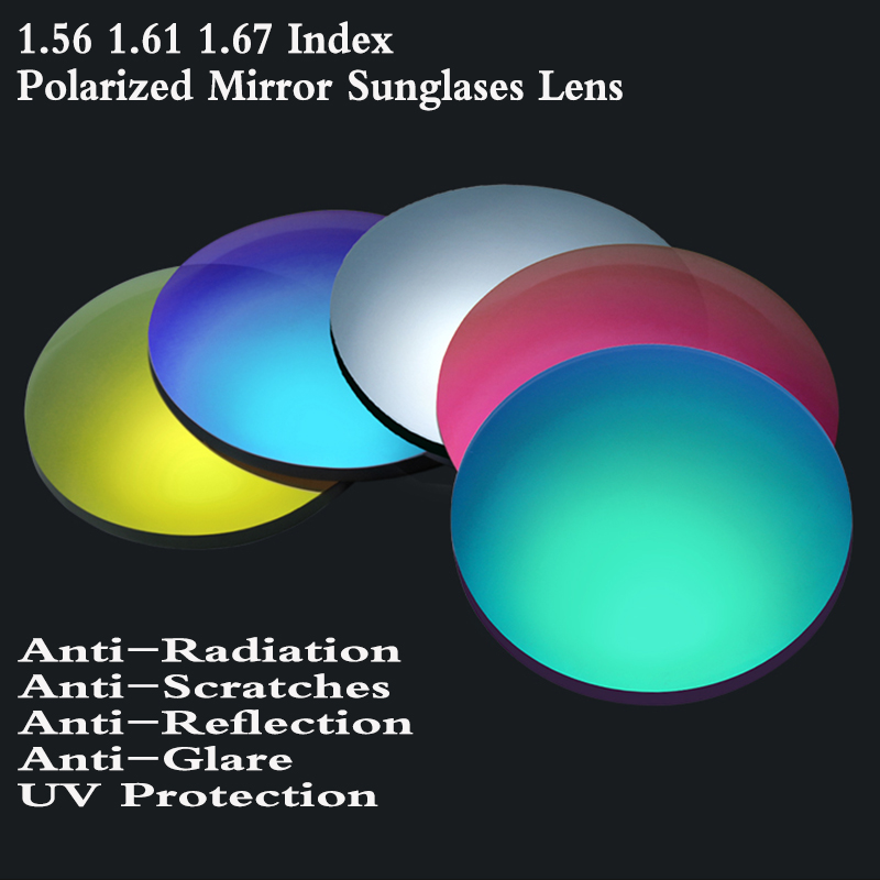 1 56 1 61 1 67 Index Aspheric Mirror Polarized Colored Optical Prescription Lens Myopia Presbyopia