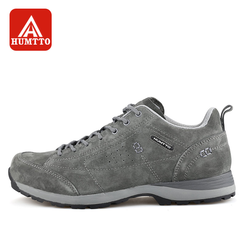 HUMTTO Men Hiking Shoes Breathable Waterproof Sneakers Winter Outdoors Leather Lace Walking Climbing Shoes humtto new hiking shoes men outdoor mountain climbing trekking shoes fur strong grip rubber sole male sneakers plus size