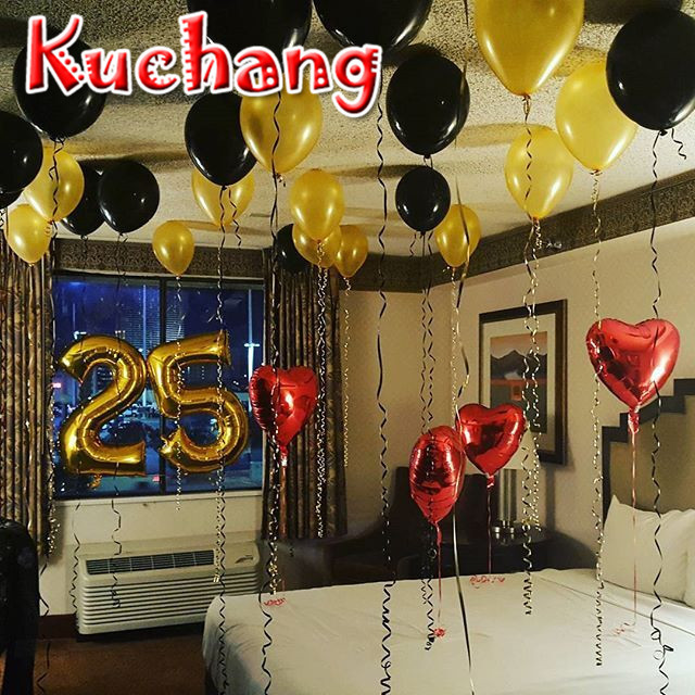 30pcs Lot 25th Birthday Party Supplies 40in Number Heart Balloon Wedding Decoration Ballon