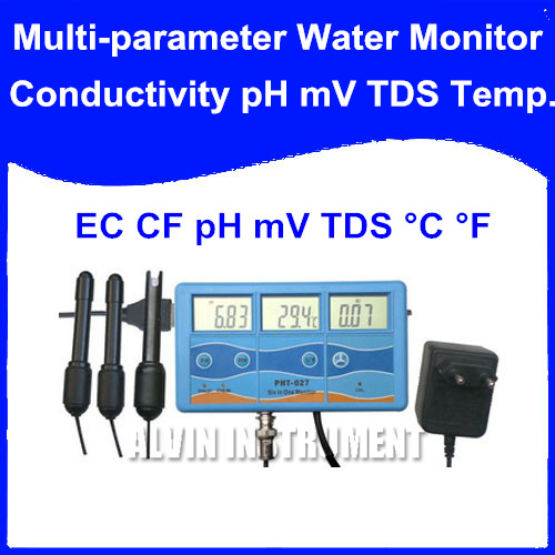 цены  Free Shipping PH EC CF Temp TDS ORP/mV Tester Analyzer 6-in-1 Multi-Function Water Testing Meter Monitor Conductivity Temprature