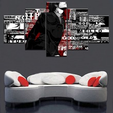 Modular Pictures 5 Panel Animation Death Note Boys Poster Canvas Printed Painting Home Decorative Living Room Wall Art Artwork