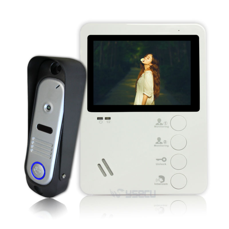 Homefong 4.3TFT 800TVL Video Doorbell Camera Video Door Phone Doorbell Intercom System IP65 Waterproof  Indoor Monitors 1 V 1 homefong 7 tft lcd hd door bell with camera home security monitor wire video door phone doorbell intercom system 1200 tvl