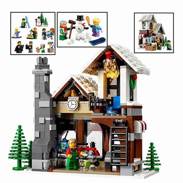 Mailacker 36002 Brick Bank The Winter Shop 1005Pcs Legoing Creator 10249  Set Building Blocks Toys For