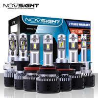 NOVSIGHT H4 H11/H8/H16jp H7 LED Auto Fari Lampadine 70W 10000LM H15 Hi/lo di Guida luci di nebbia H1 H3 9005 9006 Faro di Luce D40