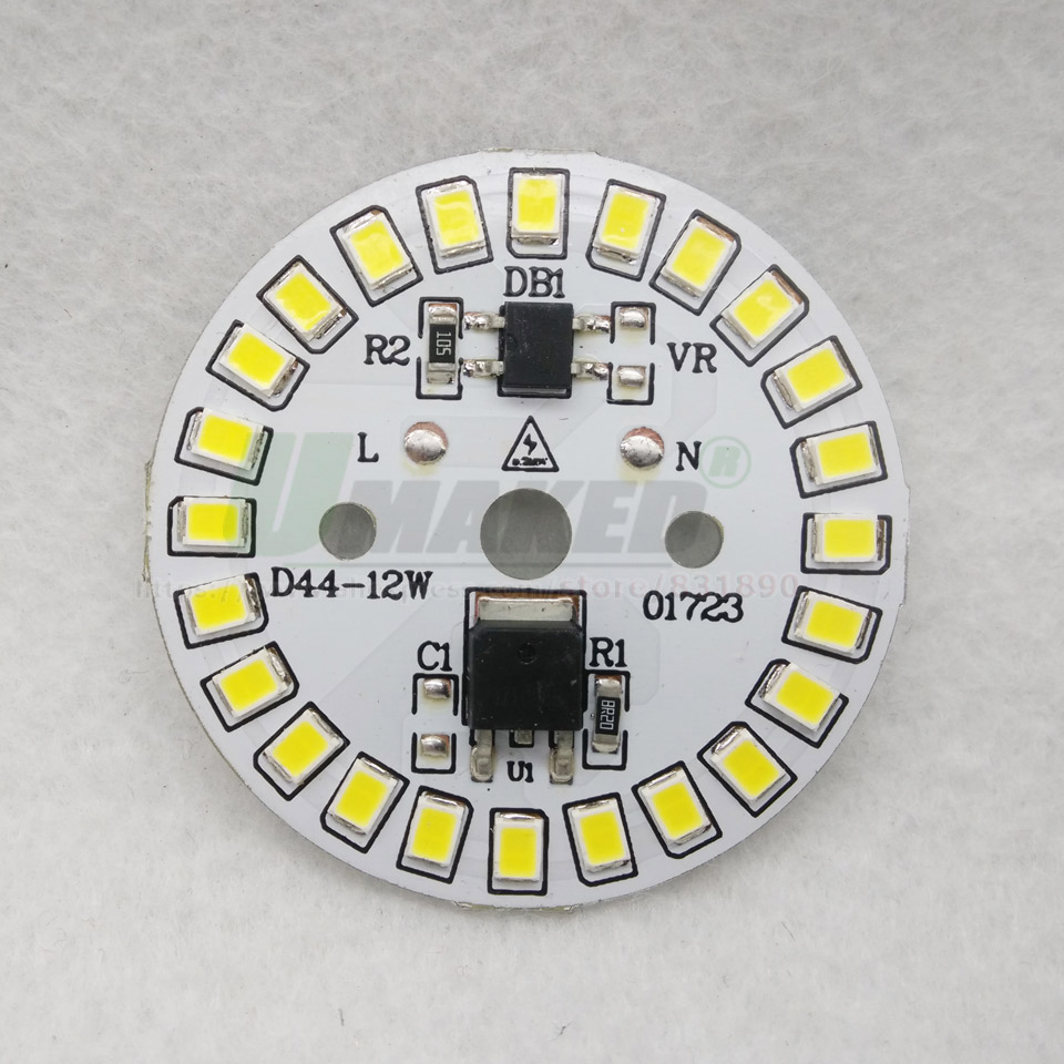Image 5 - 2pcs AC220V LED PCB High Bright 3W 5W 7W 9W 12W 15W SMD2835 Integrated Smart IC Driver Aluminum Light source plate for LED Bulbs-in Light Beads from Lights & Lighting