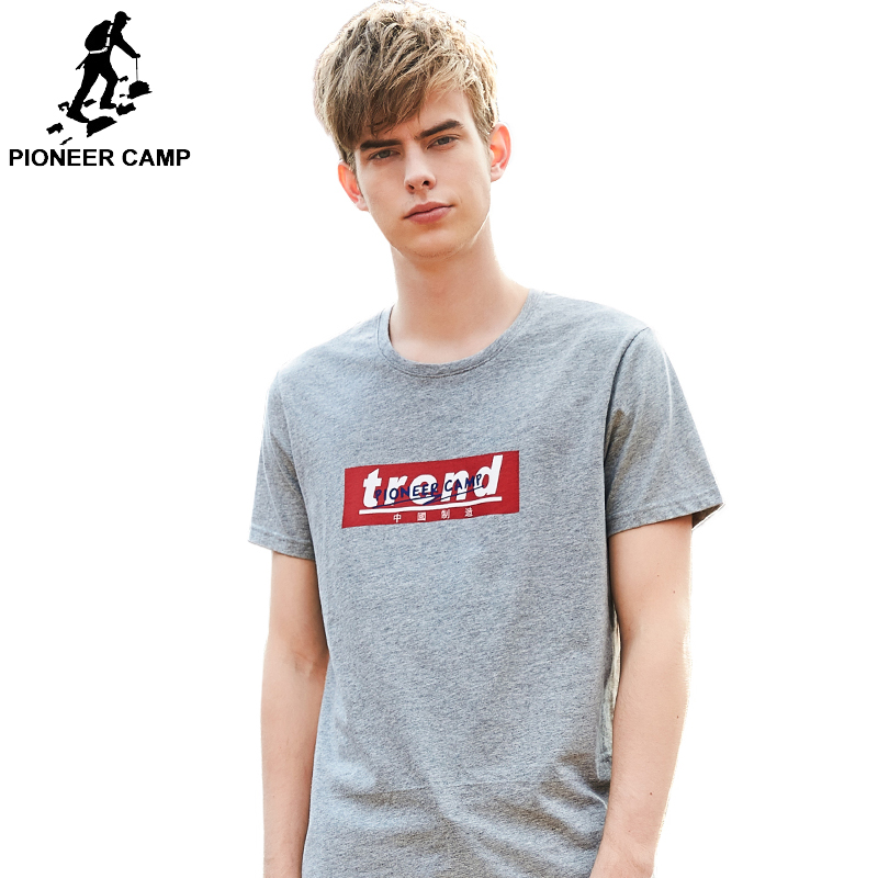 Pioneer Camp Summer 2019 Cotton Top Tee Men 39 s Casual Short Sleeve T Shirt Mens O neck High Quality T shirt Male ADT902004 in T Shirts from Men 39 s Clothing