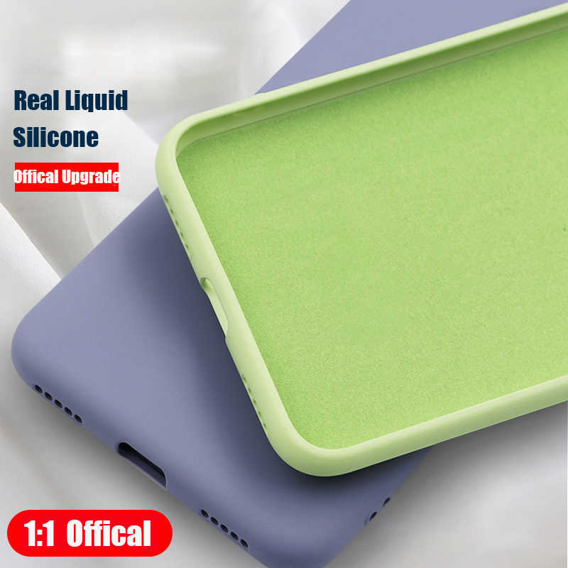 Original Soft Summer Liquid Silicone Cover For Xiaomi Mi 8 Lite Mi 9 SE Mi 6X A2 Lite On Redmi Note 7 Redmi 7 6A 6 Pro Case TPU