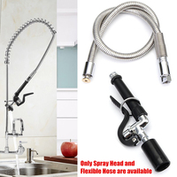 2019 Stainless Steel Commercial Kitchen Water saving Pre Rinse Faucet Tap Spray Head Sprayer + Flexible Hose