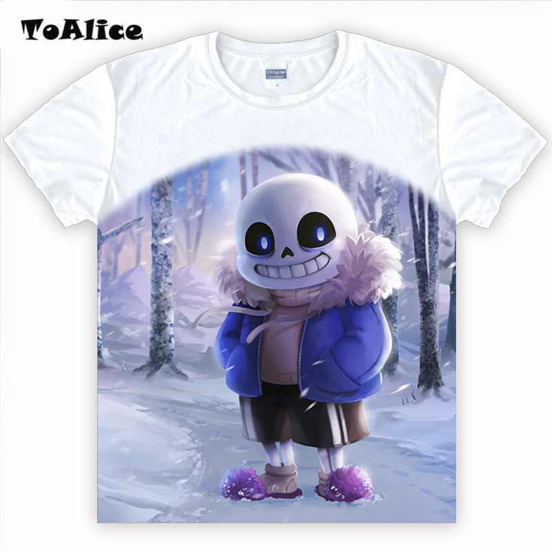HOT Game Undertale T-Shirt Skull Brother Sans & Papyrus Printed T-shirts T Shirt Short Sleeve Tees O-Neck Men Women Summer Tops