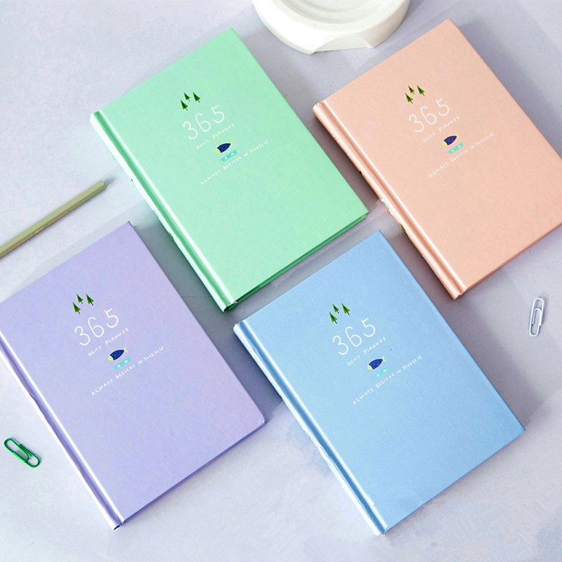 Korean Kawaii Cute Flower Schedule Planner 365 days Weekly Monthly Yearly Planner Organizer Notebook Kawaii Agenda 2017 new replacement power tool battery chargers for bosch 14 4v 18v li ion lithium battery high quality