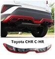 Для Toyota CHR C-HR 2017 2018 2019 задний бампер диффузор защита противоскользящая пластина высокое качество аксессуары для модификации автомобиля