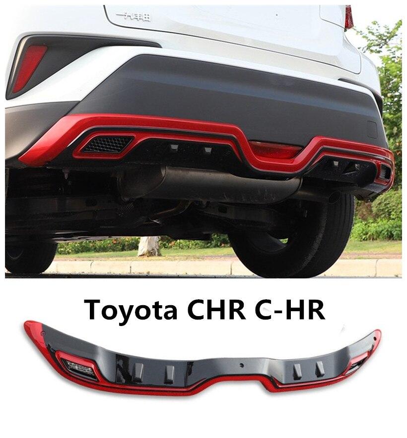 Для Toyota CHR C HR 2017 2018 2019 задний бампер диффузор гвардии опорная плита Высокое качество модификация автомобиля аксессуары
