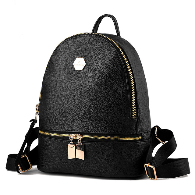 d6ceab643e New 2018 High Quality Women Backpacks Famous Brands Fashion Lady Leather  Backpack School Backpacks For Teenage