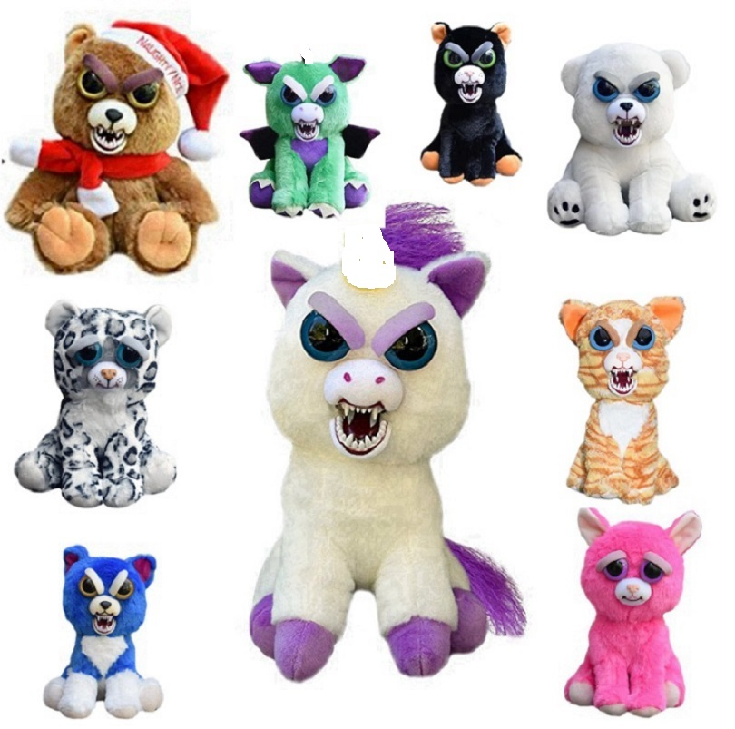 Change Face Feisty Pets Plush Toy Panda Monkey With Funny Expression Stuffed Animal Doll For Kids Cute Prank toy Christmas Gift