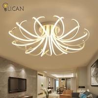 LICAN 2017 Новый дизайн Потолочные светильники для гостиной спальни пульт дистанционного управления и затемнения света 220 в 110 В Luminarine потолочны