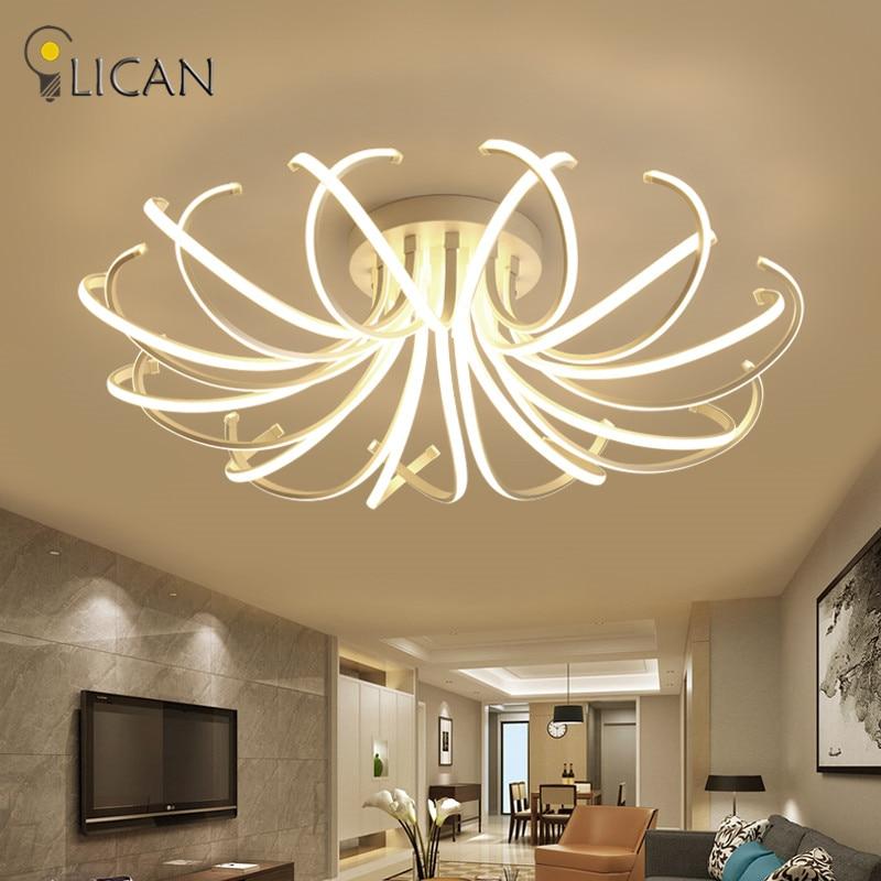 LICAN 2017 Neue Designs Decke Lichter für wohnzimmer Schlafzimmer fernbedienung und dimmen licht 110V 220V Luminarine decke lampe