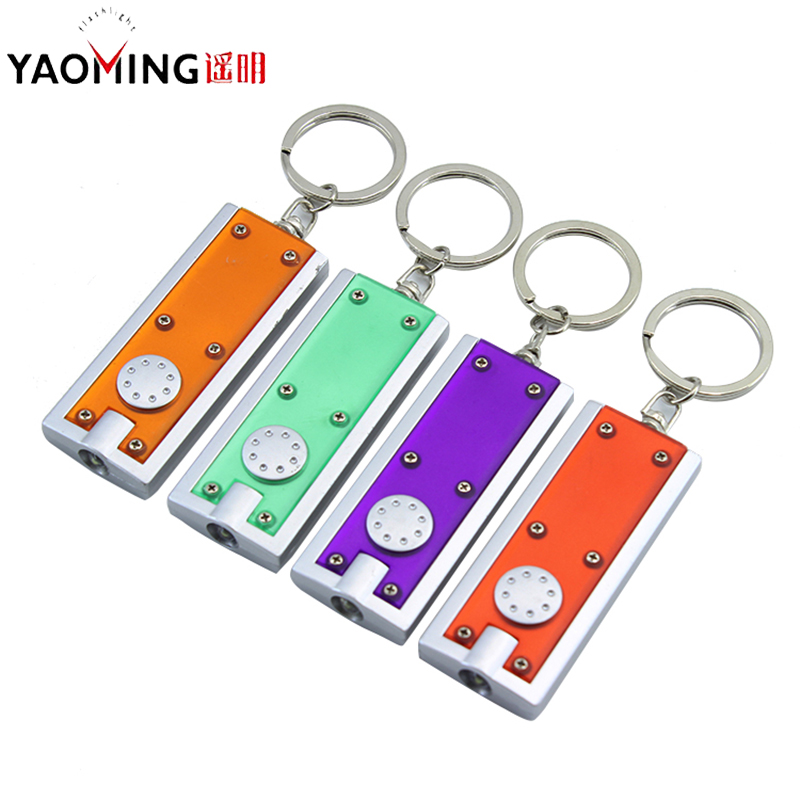 Led Flashlights Key Ring ABS 6 Color Mini Flashlights Portable Flashlights Pocket Light Anniversary Small Gifts Waterproof Torch