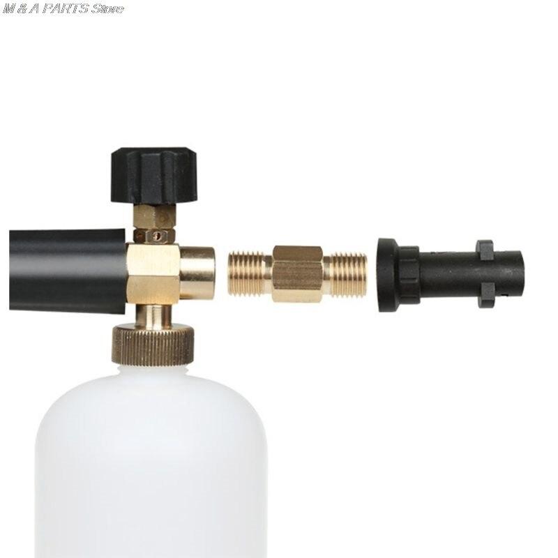 Pressure Washer Adapter Connector Brass Bayonet 1//4 BSP Foamer For Karcher K Kit