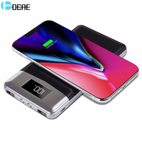 Qi Drahtlose Chager Energienbank Dual USB 5V2A Externe Pack für iphone X 8 8 Plus Samsung Note8 S7 Plus Schnell ladung