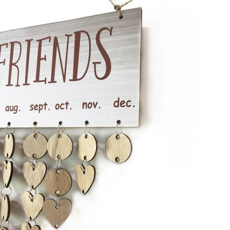 Stylish Wood Birthday Reminder Board Sign House Decoration DIY