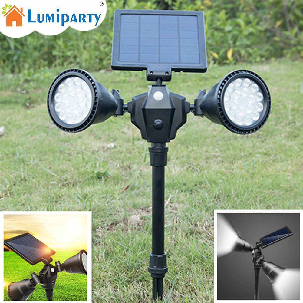 LumiParty Outdoor Waterproof 36 LEDs Double Rotation Spotlights Solar Power LED Lawn Pin Lamp Yard Decoration new emay gaahoo zbu10 usb io board ffc flex cable for dell latitude e7450 dpn 0kcxkt zbu10 lf a961p