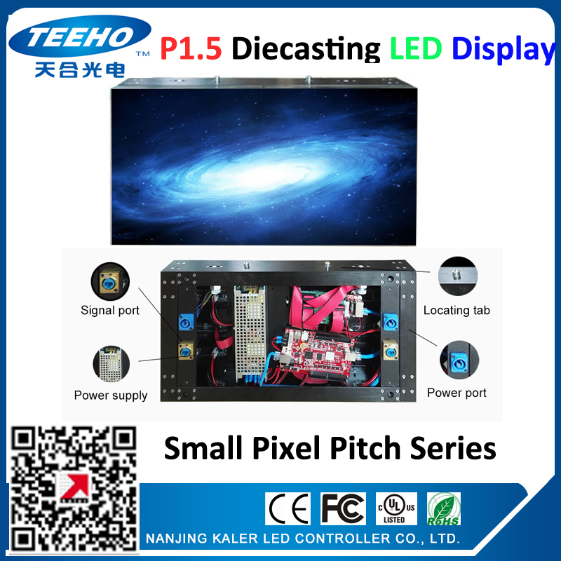 HD P1.5 LED TV 16:9 480 X 270mm 320 X 180mm SMD1010 Led Display, Diecasting Cabinet Can Play HD Photos And Video TV LED Wall