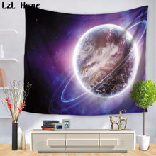 LzL Home Fancy Purple Psychedelic Universe Tapestry Decor Wall Hanging Door Curtain Camping Tent Yoga Mat Tablecloth Carpet