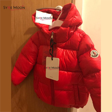2016 NEW Children Down Coat  Winter Down Jacket Kids Thick Warm Hooded Jacket hooded Boys Girls Casual Outerwear