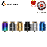 Newest Geekvape Loop V1.5 RDA 24mm with Unique Laser tattoo W shaped build deck Vape e cigs Loop RDA Atomizer for 510 box mod