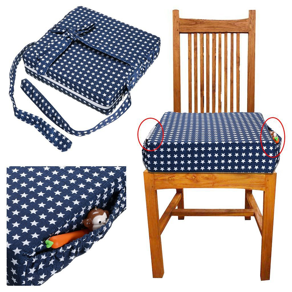 Adjustable Detachable Child Booster Seat Cushion Kids Dining Chair Increase High