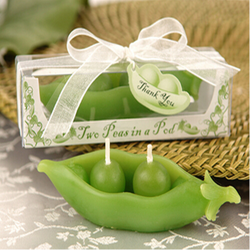 10 X Wedding Favor Green Peas Pod Candle Gift Scented Candles Party