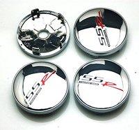 4pcs Black 60mm Car Emblem Badge Sticker Wheel Hub Caps Centre Cover SS R SIGNATURE