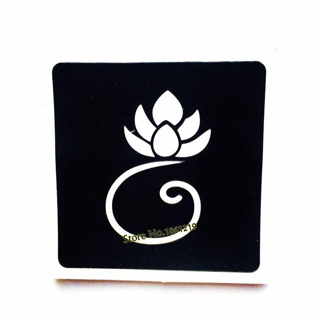 Fleur De Lotus Tatouage Au Henne Pochoirs Pour Aerographe Dessin