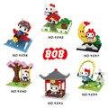 Olá kitty Figuras de Ação Modelo de Gatos Bonitos Dos Desenhos Animados Personagens de Anime Crianças Dom Brinquedos Modelo Mini Blocos Montados