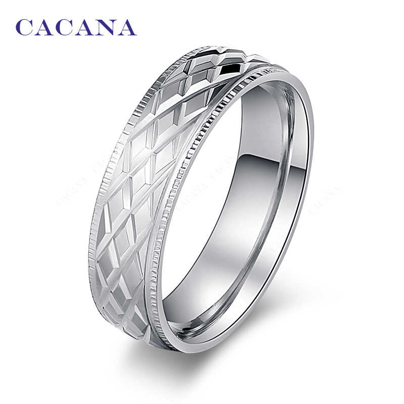 CACANA  Stainless Steel Rings For Women Shining Stainless Steel Personalized Fashion Jewelry Wholesale NO.R18