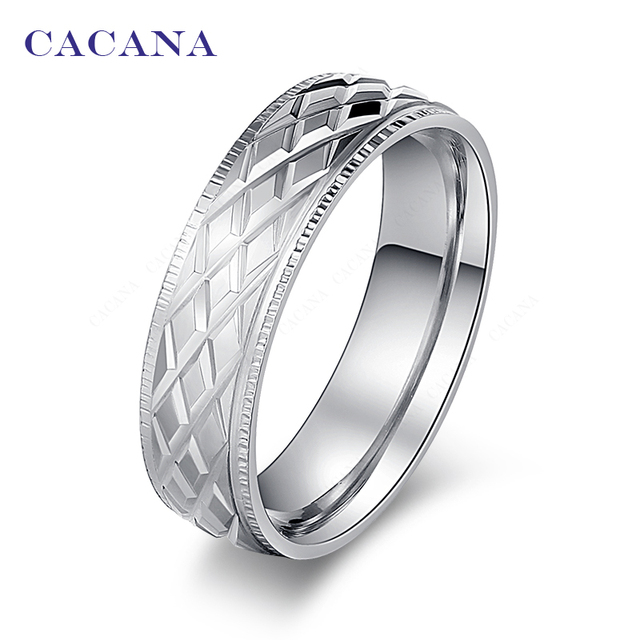 CACANA Titanium Stainless Steel Rings For Women Shining Stainless Steel Fashion