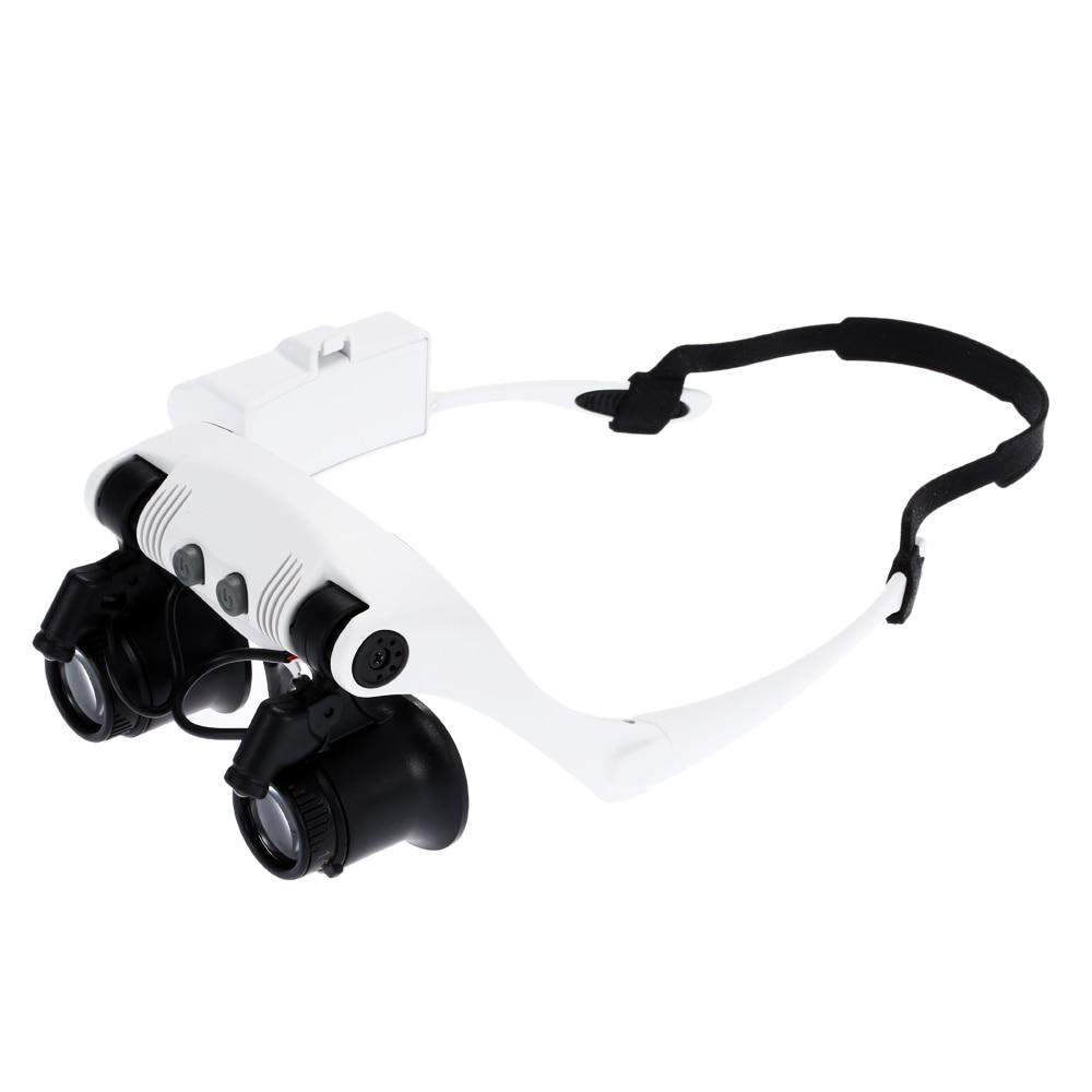 10X 15X 20X 25X šviečiantis šalmo didintuvas dvigubų akinių - Matavimo prietaisai - Nuotrauka 2