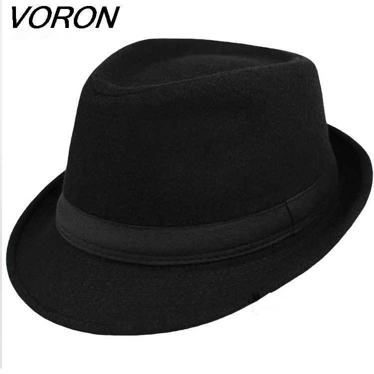 VORON 2017 Brand New Fashion Pure Cotton men Large Brim Cap winter Fall fedoras Floppy Male Jazz hat Vintage Popular wool caps