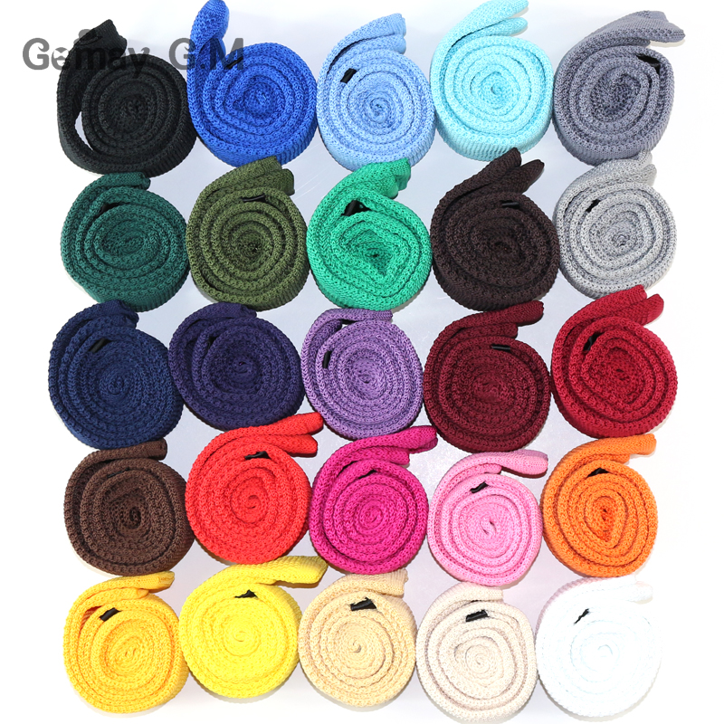 Solid Knitted Ties For Men Casual Polyester Skinny Mens Neckties Fashion Candy Color Slim Neck Tie For Gify Wedding