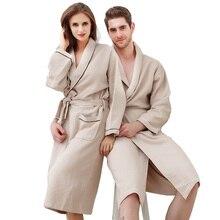 100% хлопок халат летом 100% хлопок вафельные халаты любителей весна тонкий халаты