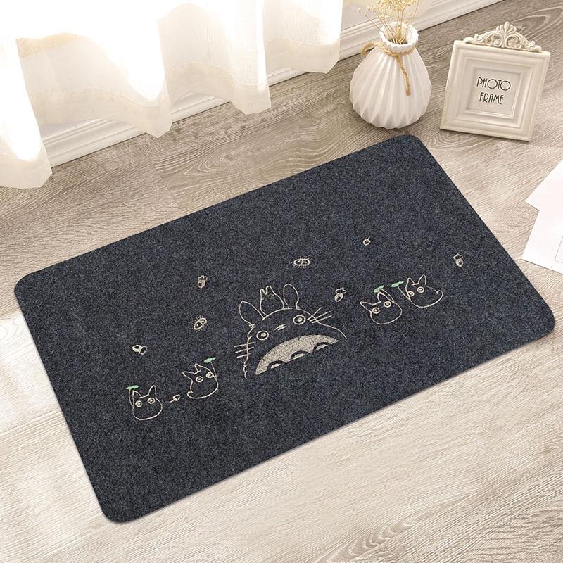 80*120 cm Bienvenido puerta impermeable Mat de dibujos animados lindo Totoro cocina alfombras dormitorio alfombras decorativa escalera de decoración para el hogar artesanía