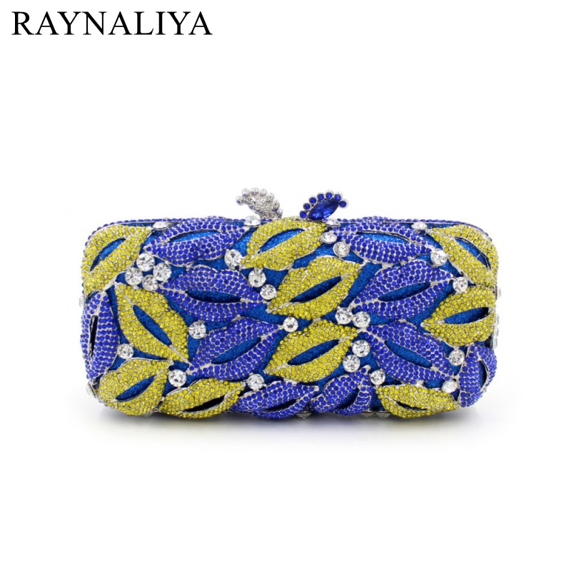 Women Evening Bags European And American Style Ladies Wedding Party Clutch Bag Crystal Diamonds Purses Day Clutches Smyzh-e0138 diamond crystal mini evening party bag women beading day clutches ladies chain gold clutch purses and handbag smyzh f0040