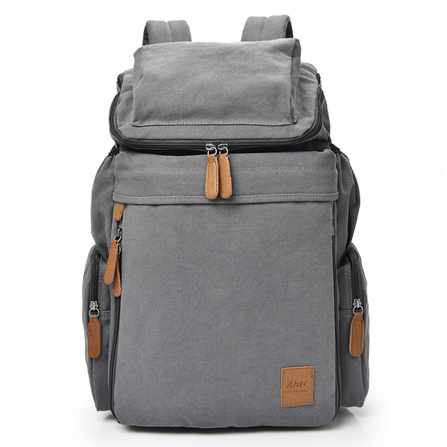 dc397129aec US $36.8 |New Fashion arcuate shouider strap zipper solid casual bag male  backpack school bag canvas bag designer backpacks for men women-in  Backpacks ...