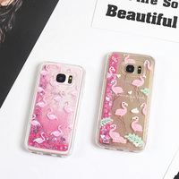 Glitter Liquid Quicksand Case For Samsung S8 S8plus S8 Flamingo Cartoon Case For Samsung Galaxy S7