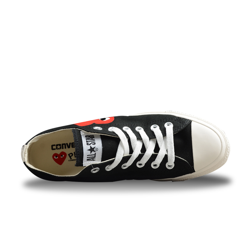Converse Skateboarding Shoes For Men And Women Sneakers CDG X Chuck Taylor  1970s HiOX 18SS Sport Black Authentic Unisex 150210C-in Skateboarding from  Sports ... 02d706891873
